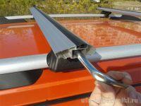 Багажник на рейлинги Lux Классик, крыловидные дуги (аэро-трэвэл 82 мм)