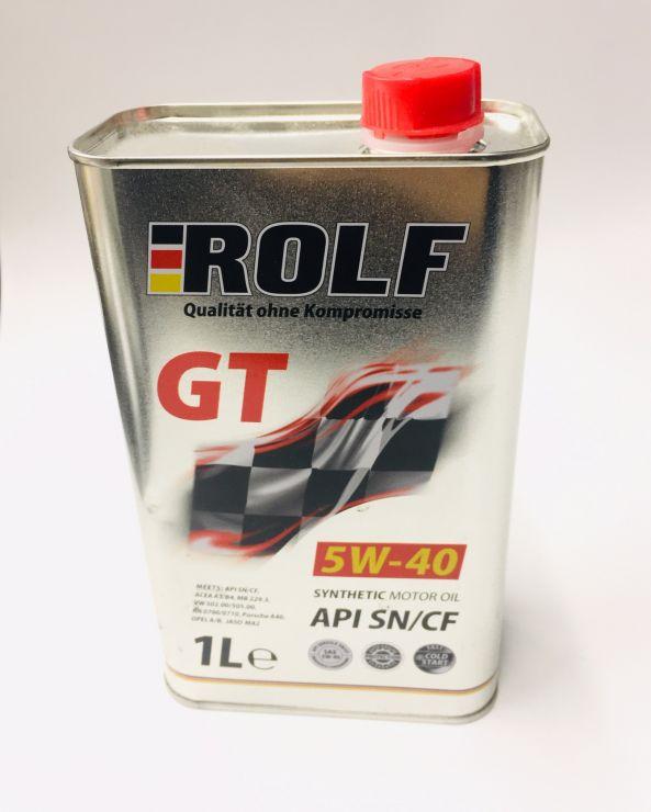 Масло моторное Rolf GT 5W40 1л 322234