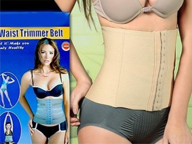 Корректирующий пояс Waist Trimmer Belt, цвет бежевый, размер L
