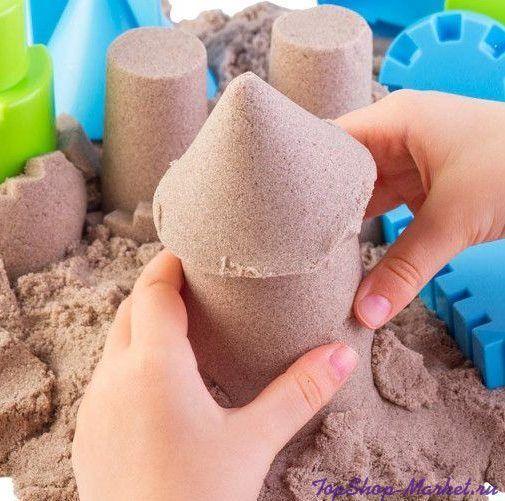 Кинетический волшебный песочек в комплекте с 6-ю формами для лепки, 400 грамм
