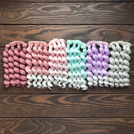 Трессы Спиральки цветные