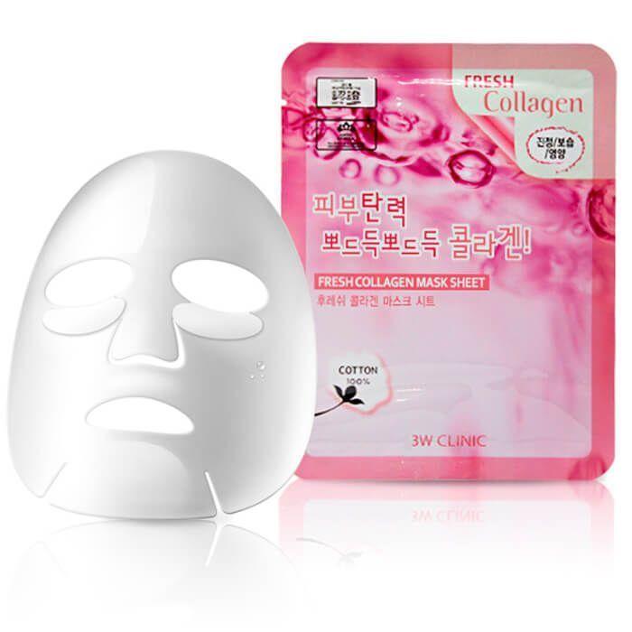 """[3W CLINIC] Тканевая маска для лица КОЛЛАГЕН """"Fresh Collagen Mask Sheet"""""""