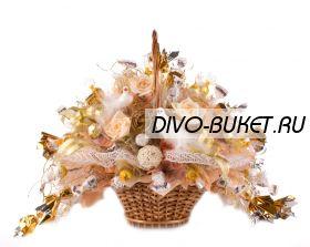 "Корзина с конфетами №604 ""Золотая свадьба"""