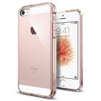 Чехол Spigen Ultra Hybrid для iPhone 5/5S/SE кристально-розовый
