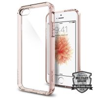 Оригинальный чехол Spigen Ultra Hybrid для iPhone 5/5S/SE кристально-розовый