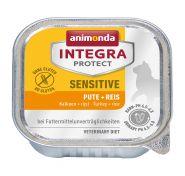 Animonda Integra конс. Sensitive c индейкой и рисом д/кошек при пищквой аллергии, 100г