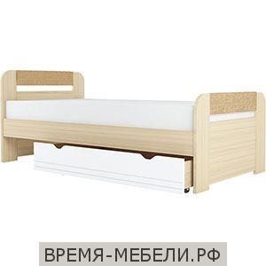 """Кровать с основанием ЛДСП """"Стиль 900.3"""" Кофе с молоком"""