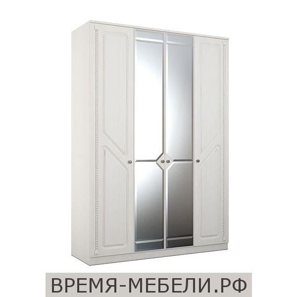 Шкаф 4-х створчатый «Азалия 24» бодега белый