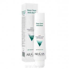 Маска для лица очищающая с глиной и АНА-кислотами, 100мл, ARAVIA Professional