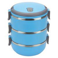 Термо ланч-бокс из нержавеющей стали, 2,8 л, Цвет: Голубой