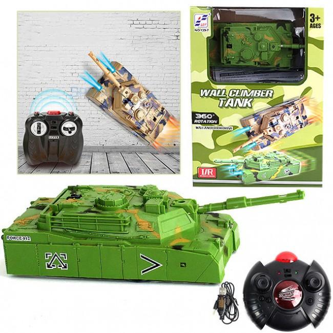 Радиоуправляемый Антигравитационный Танк WALL CLIMBER, Зеленый