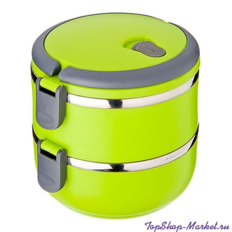 Термо ланч-бокс из нержавеющей стали, 1,4 л, Цвет: Зелёный