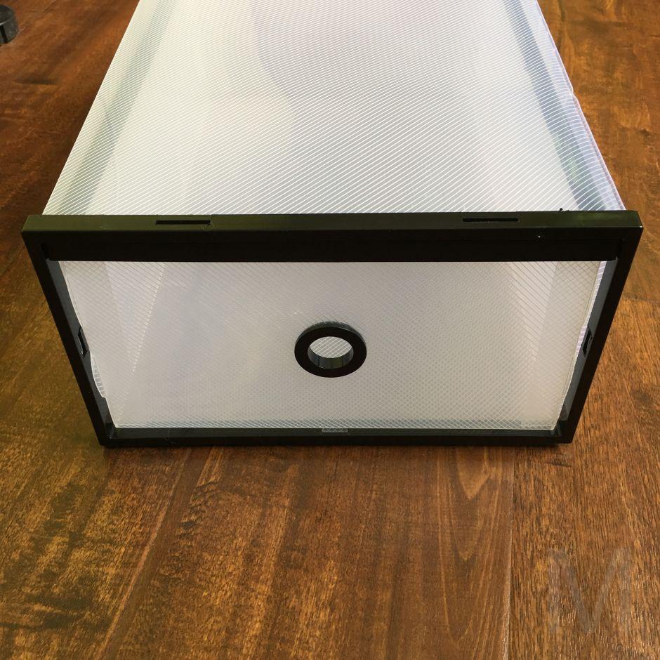 Выдвижной короб из пластика для хранения обуви, 20,5х11,5х31 см