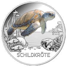 Черепаха  3 евро Австрия 2019 на заказ