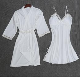 комплект халат + сорочка шелк , размер S M L, модель 449