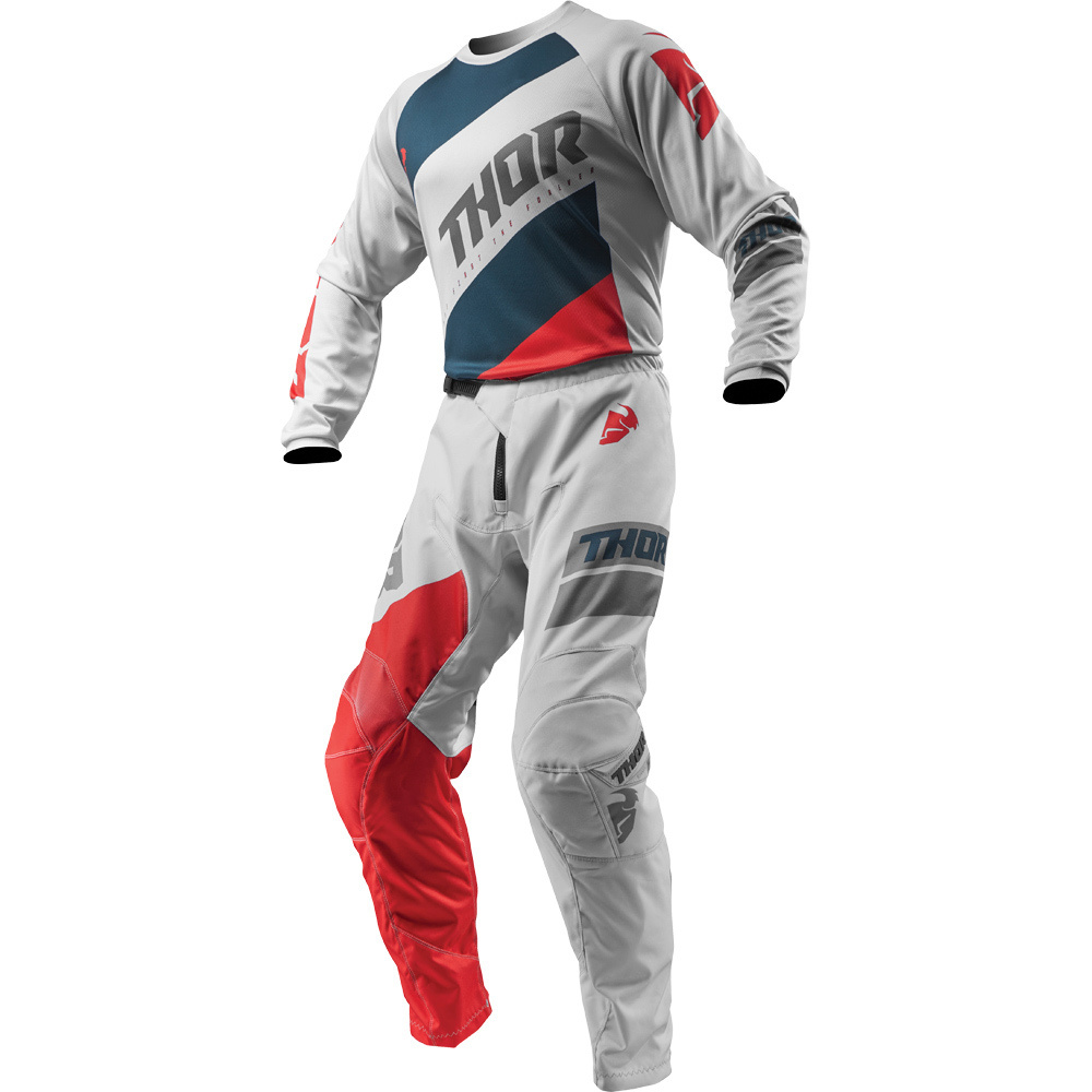 Thor - 2019 Sector Shear Lite Grey/Red комплект джерси и штаны, серо-красный
