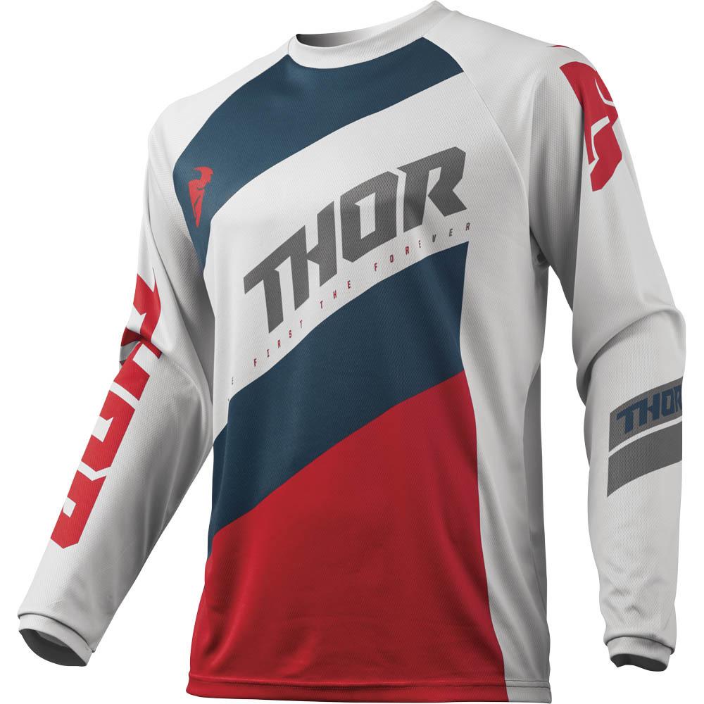 Thor - 2019 Sector Shear Lite Grey/Red джерси, серо-красное
