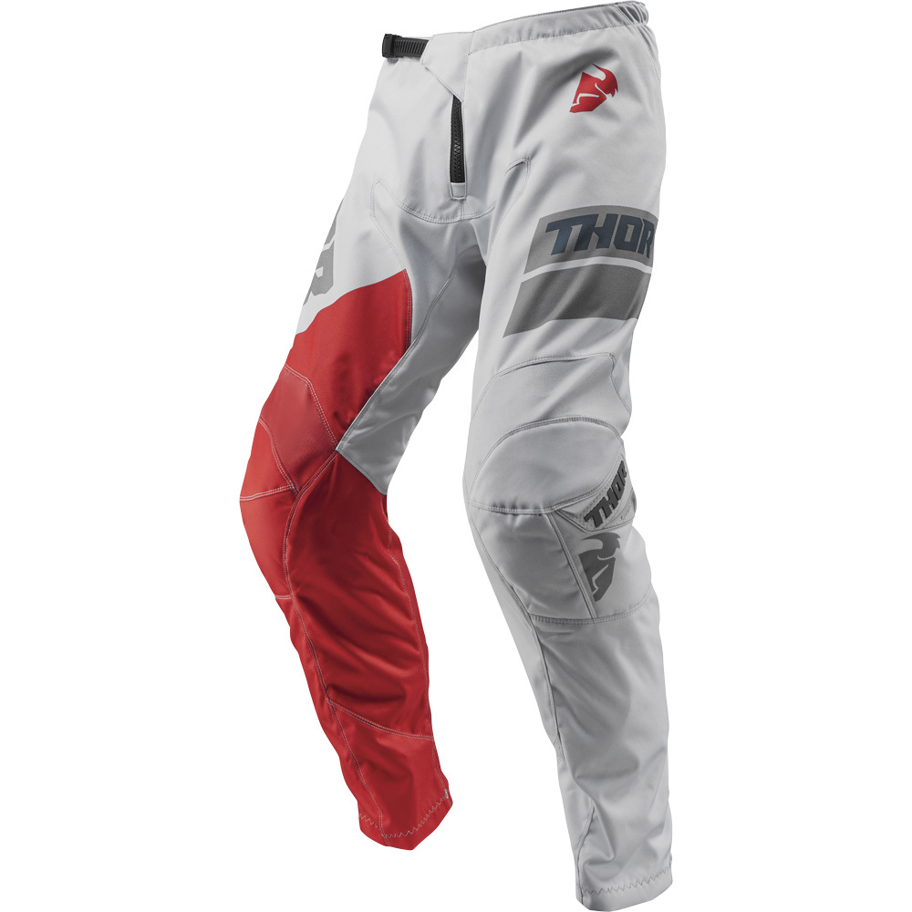 Thor - 2019 Sector Shear Lite Grey/Red штаны, серо-красные