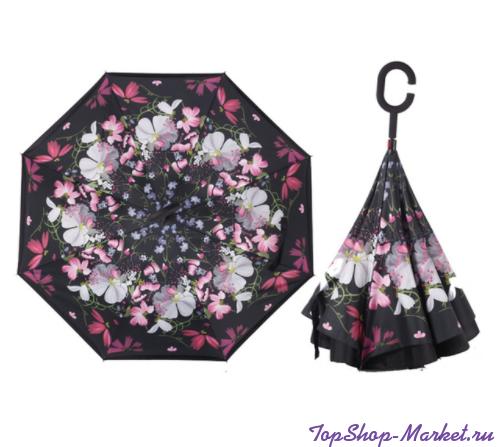 Зонт Наоборот, Рисунок: Узор из мелких роз