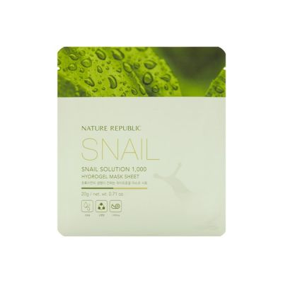 Маска для лица гидрогелевая SNAIL SOLUTION HYDROGEL MASK 20гр