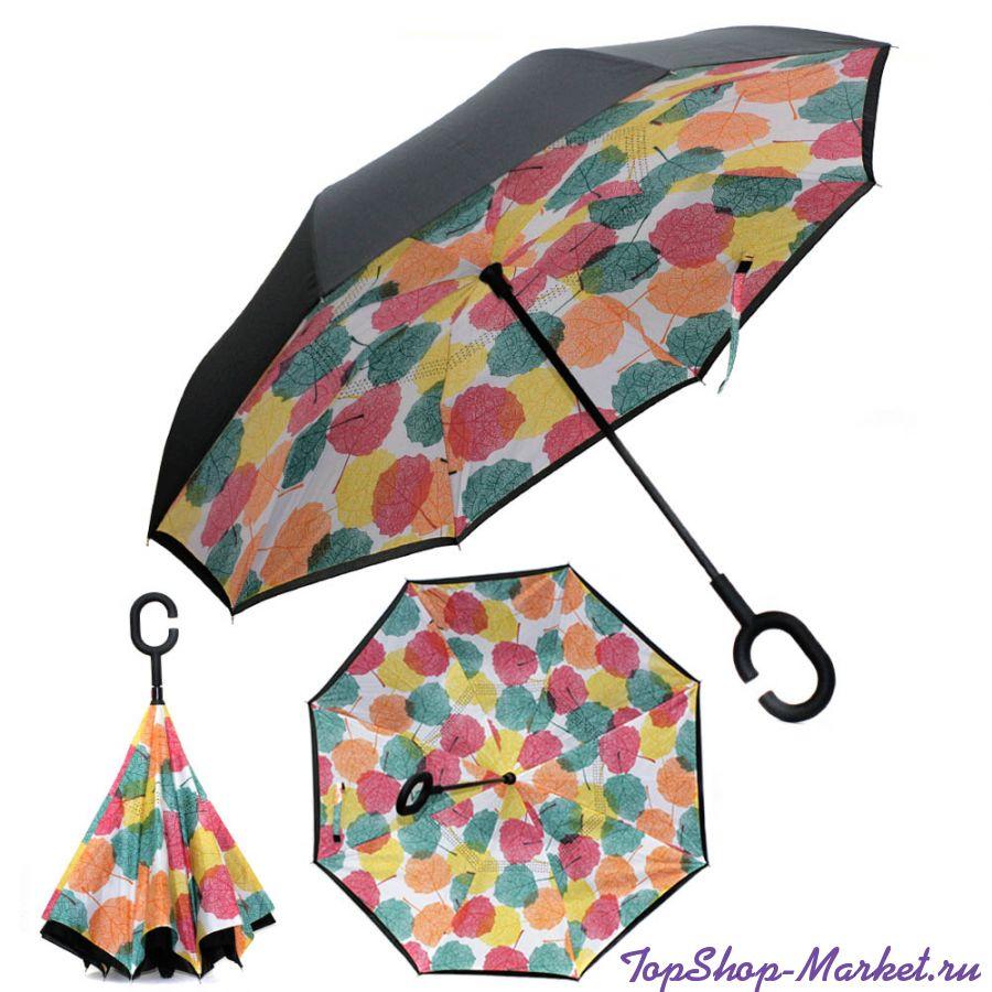Зонт Наоборот, Рисунок: Цветные листья