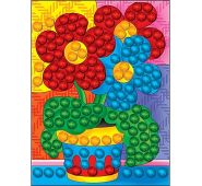 Мозаика из помпонов. формат А5. Цветы (арт. М-5229)