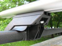 Багажник на рейлинги Suzuki Jimny, Евродеталь, аэродинамические дуги