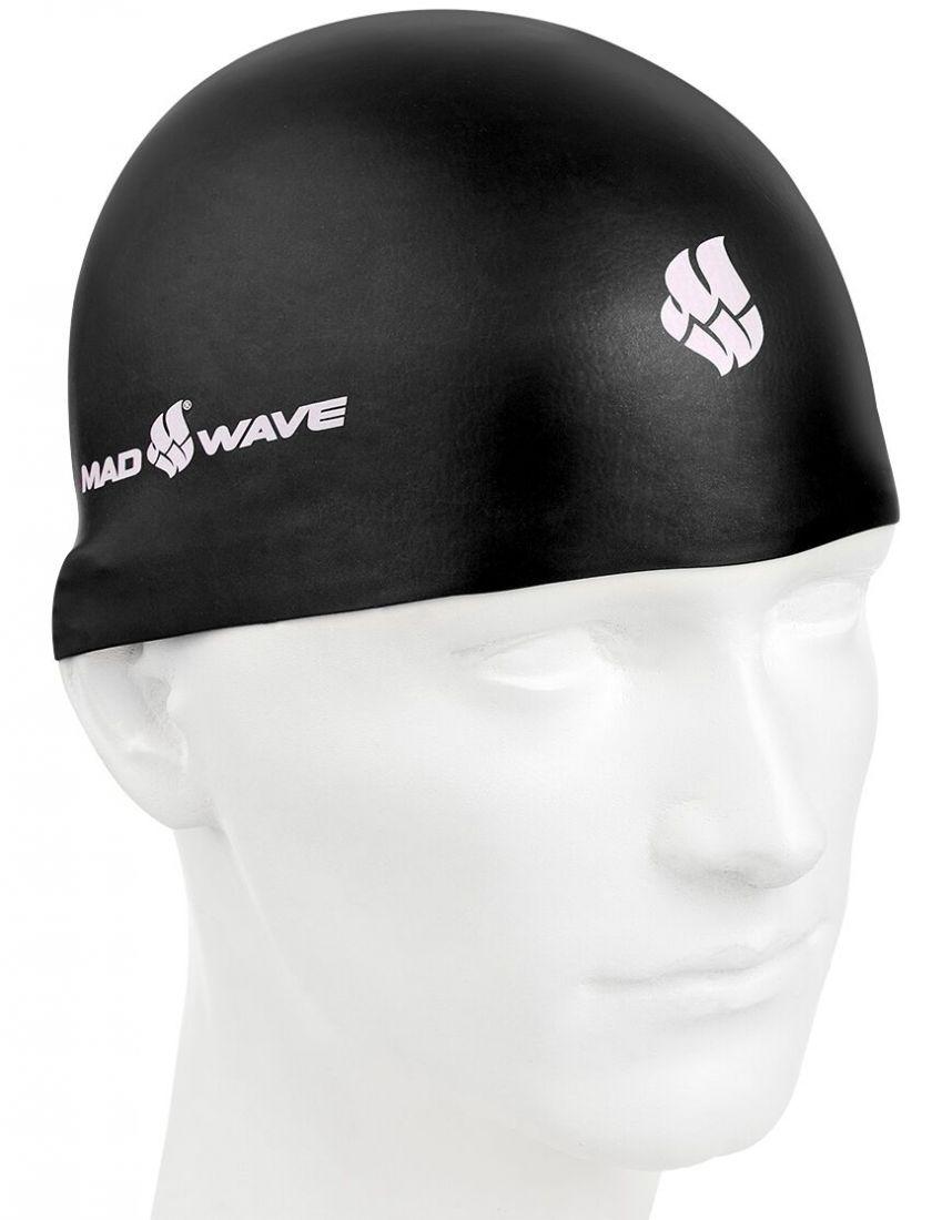 Шапочка для плавания силиконовая Mad Wave SOFT (черная)