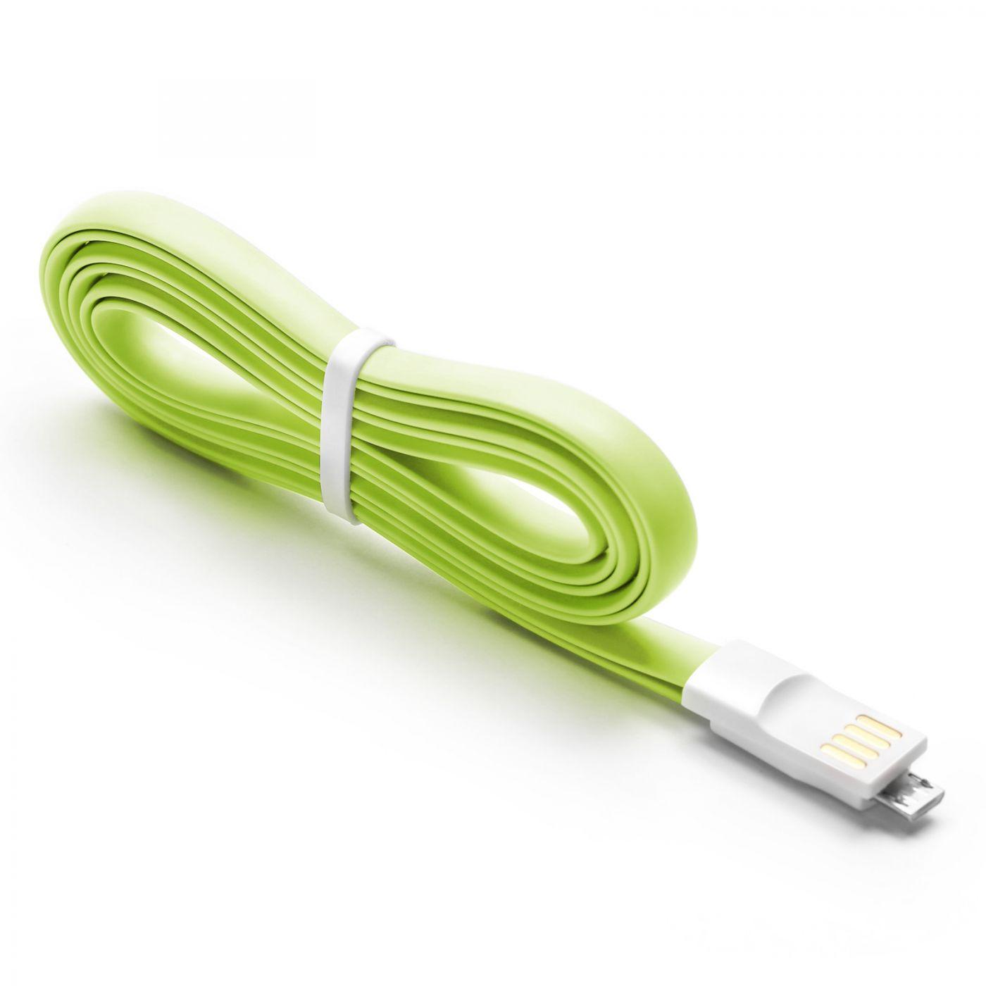 Кабель USB - microUSB  Xiaomi  Mi Colorful  120 см.(Салатовый)