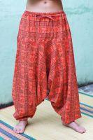 Оранжевые мужские штаны алладины из плотного хлопка, купить в Москве, интернет магазин