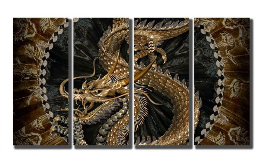 Модульная картина Дракон