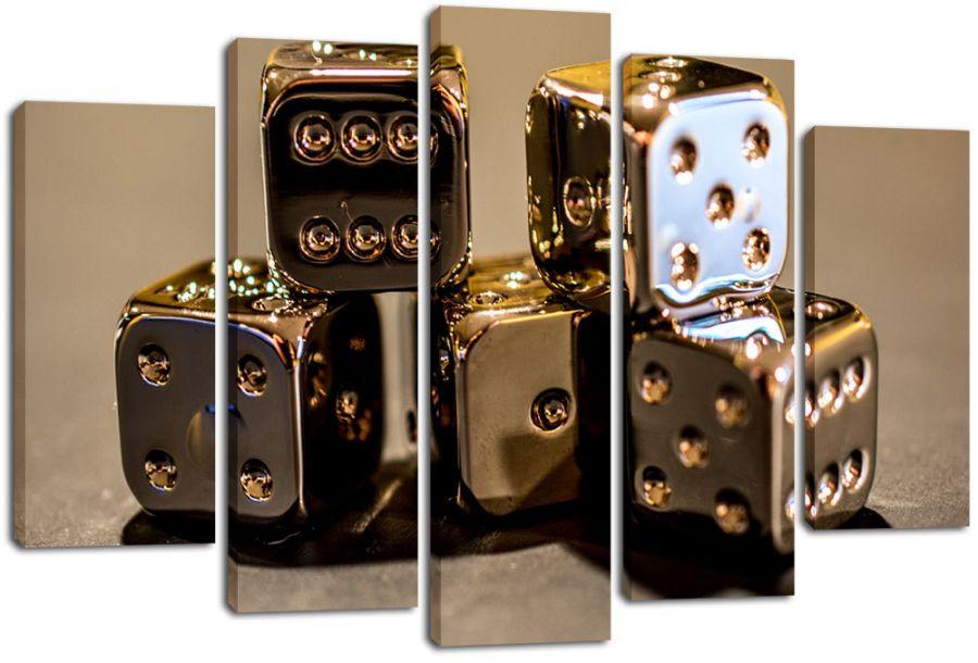 Модульная картина Золотые кубики