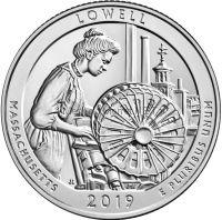 25 центов США 2019, 46-й национальный парк Лоуэл (Lowell)