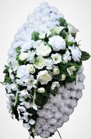 Траурный венок из искусственных цветов - Элит #39