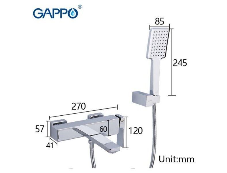 Gappo Futura G3218 Смеситель для ванны