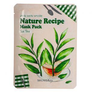 """""""SECRET KEY"""" Nature Recipe Mask Pack_Tea Tree Маска тканевая чайное дерево  20гр"""