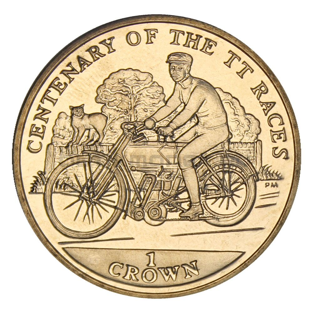 1 крона 2007 Остров Мэн Мотоцикл Colier (100 лет Мотогонкам Tourist Trophy)