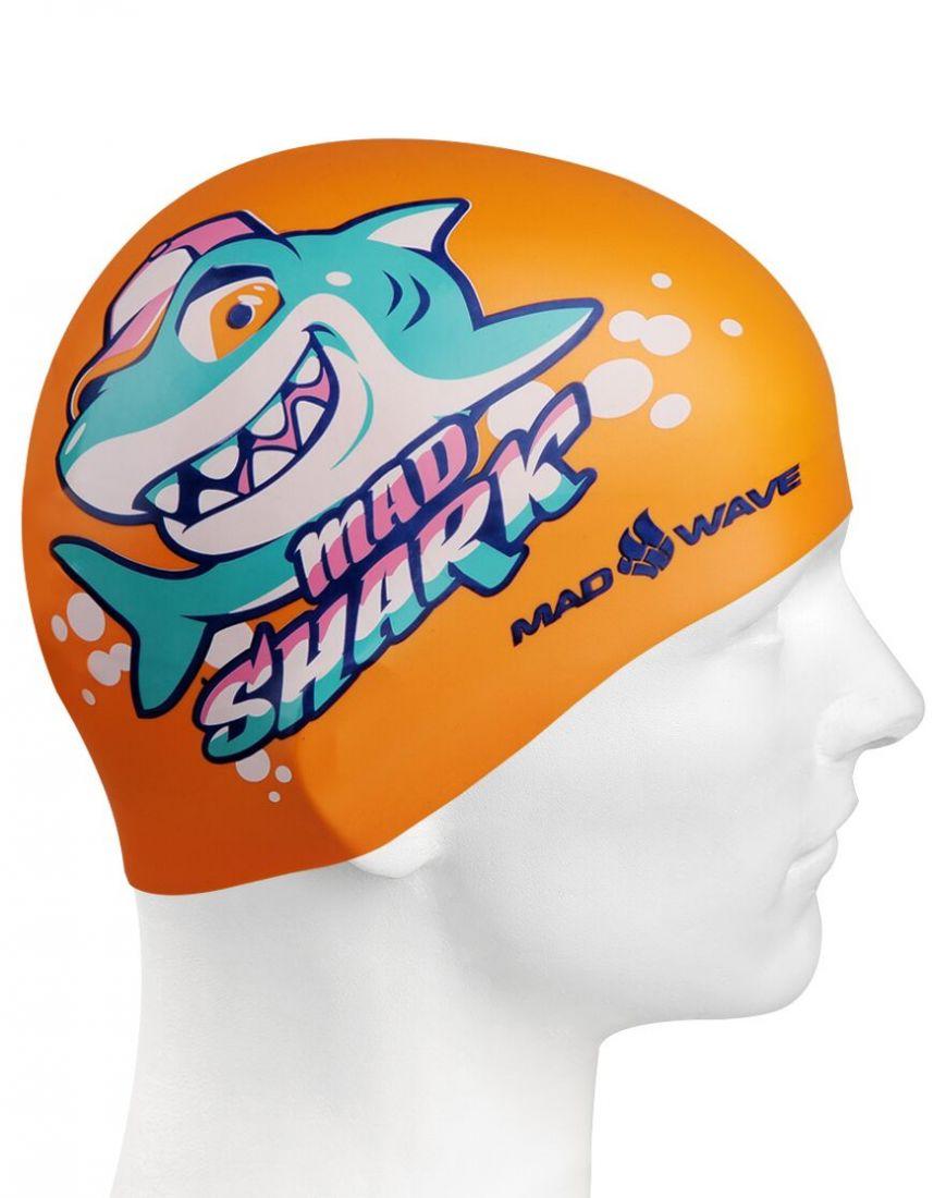 Шапочка для плавания силиконовая Mad Wave MAD SHARK