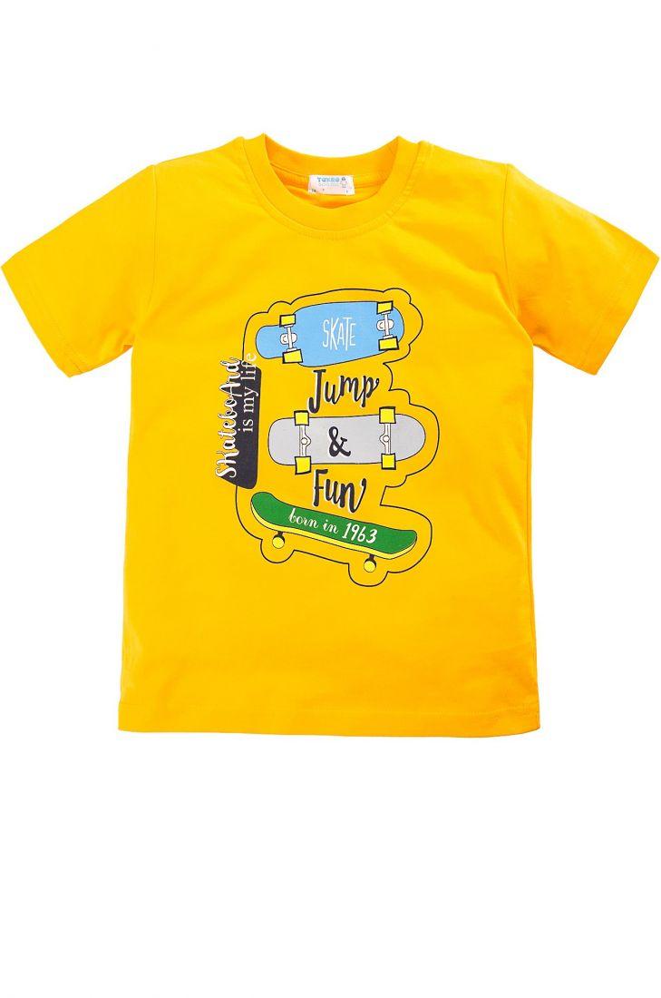 Желтая футболка для мальчика Skate