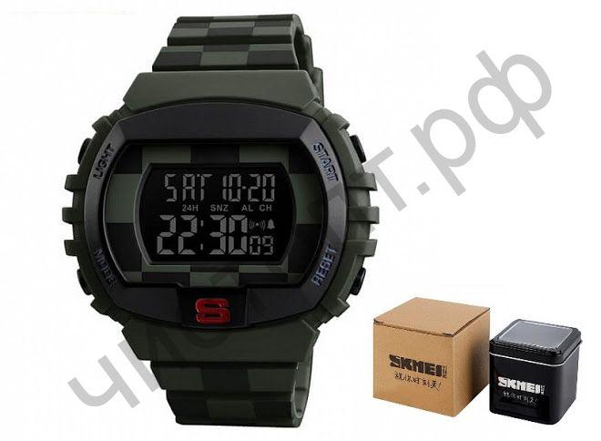 Часы наручные Skmei 1304 подсветка будильник Высокое качество Водонепроницаемые !