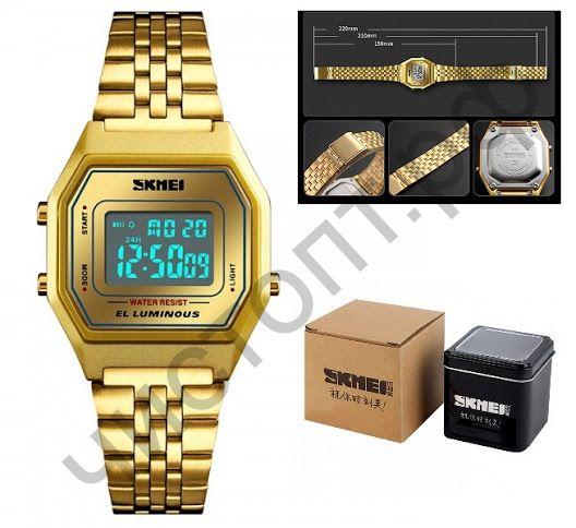 Часы наручные Skmei 1345  подсветка ,секундомер , будильник Высокое качество Водонепроницаемые !