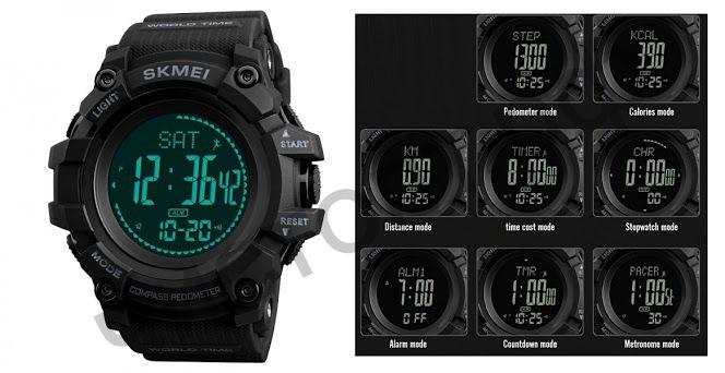 Часы наручные Skmei 1356 подсветка ,секундомер , будильник шагомер Высокое качество Водонепроницаемые !