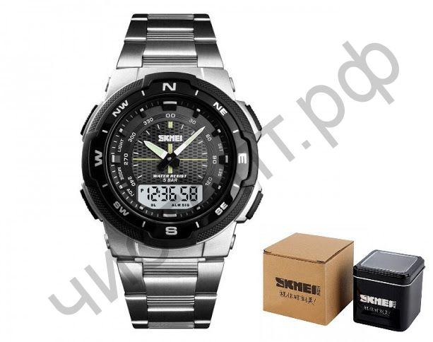 Часы наручные Skmei 1370-1 двойное время подсветка будильник Высокое качество Водонепроницаемые !