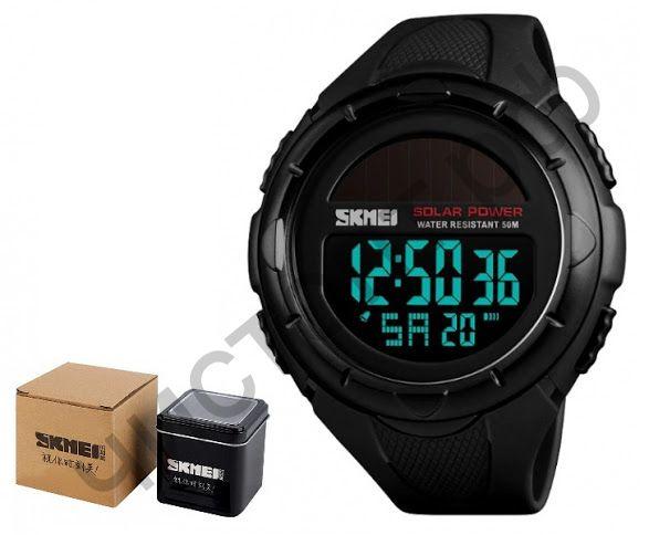 Часы наручные Skmei 1405 солнеч. батар. подсветка ,секундомер , будильник Высокое качество Водонепроницаемые !