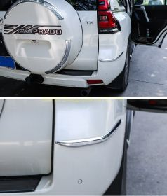 Хромированные накладки на передний и задний бампер для Toyota Land Cruiser Prado 150 2017 -