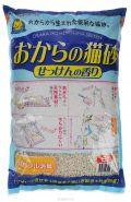 HITACHI комкующийся соевый наполнитель с ароматом мыла 6л