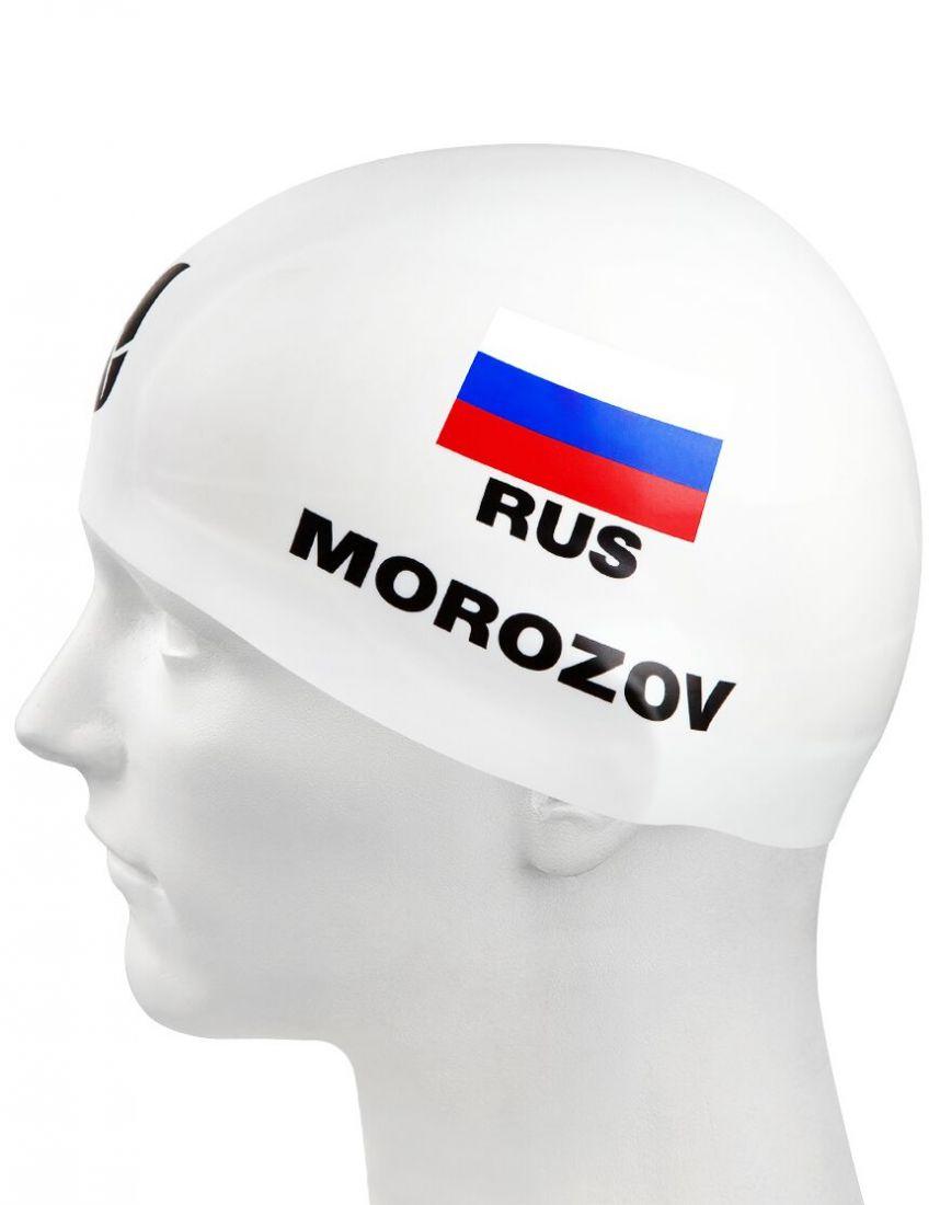 Шапочка для плавания силиконовая Mad Wave MOROZOV R-Cap (белая)