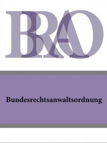 Bundesrechtsanwaltsordnung – BRAO