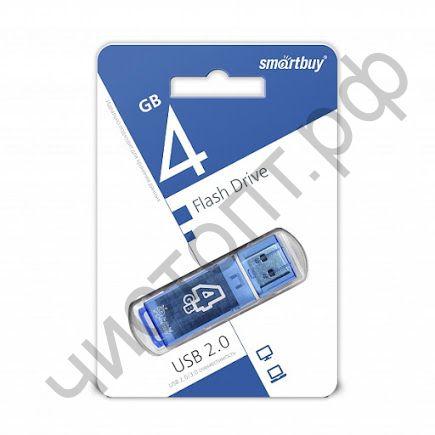 флэш-карта Smartbuy 4GB Glossy series Blue синий