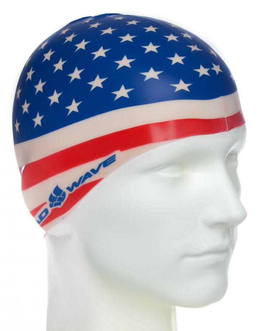 Шапочка для плавания силиконовая Mad Wave USA